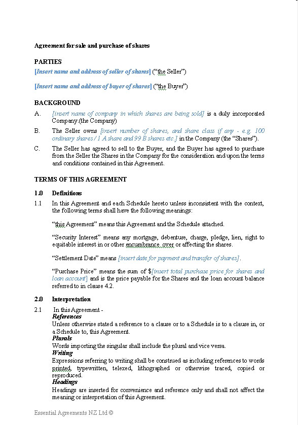 Sales Contract Templates Making An Auto Sales Contract Template