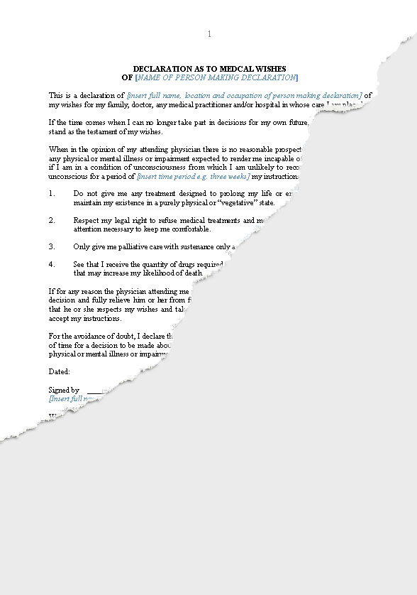 Wills trusts wills new zealand legal documents for Palliative care family meeting template