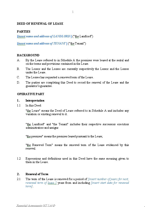 Deed Of Release Form